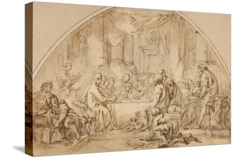 Study for the Last Supper, C.1792-Jean-Baptiste Huet-Stretched Canvas Print