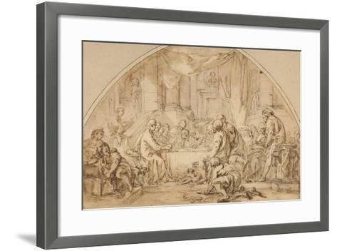 Study for the Last Supper, C.1792-Jean-Baptiste Huet-Framed Art Print