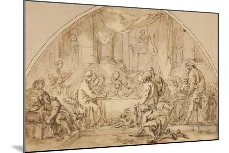 Study for the Last Supper, C.1792-Jean-Baptiste Huet-Mounted Giclee Print