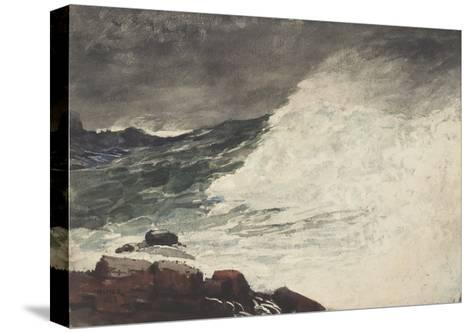 Prout's Neck, Breaking Wave, 1887-Winslow Homer-Stretched Canvas Print