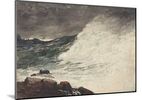 Prout's Neck, Breaking Wave, 1887-Winslow Homer-Mounted Giclee Print