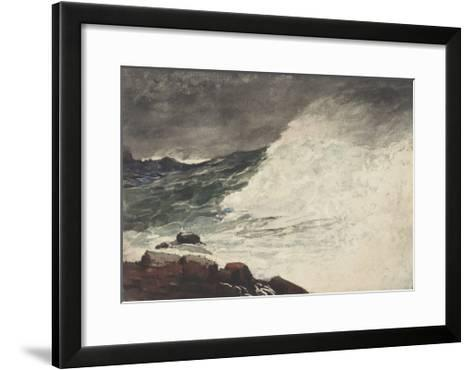 Prout's Neck, Breaking Wave, 1887-Winslow Homer-Framed Art Print