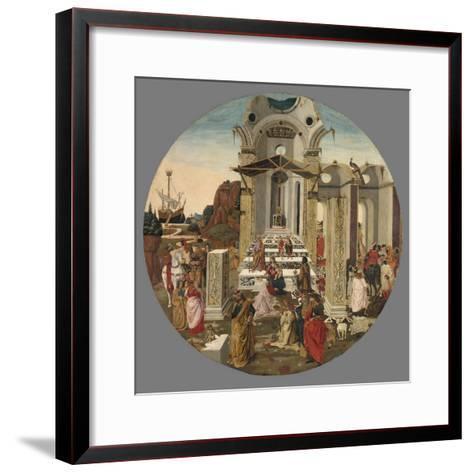 The Adoration of the Magi, C.1495-Raffaello Botticini-Framed Art Print