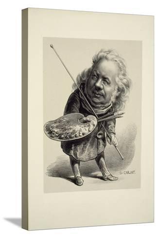 Portrait of Honor? Daumier, 1862-Etienne Carjat-Stretched Canvas Print