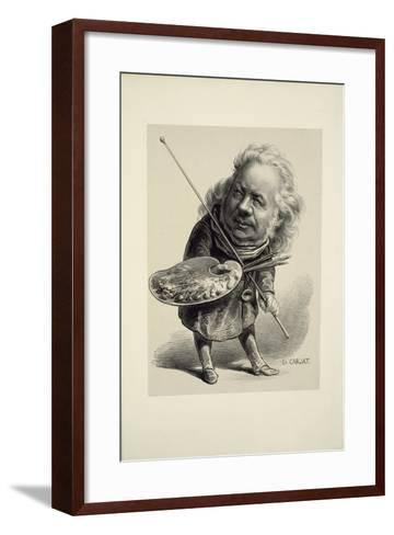 Portrait of Honor? Daumier, 1862-Etienne Carjat-Framed Art Print