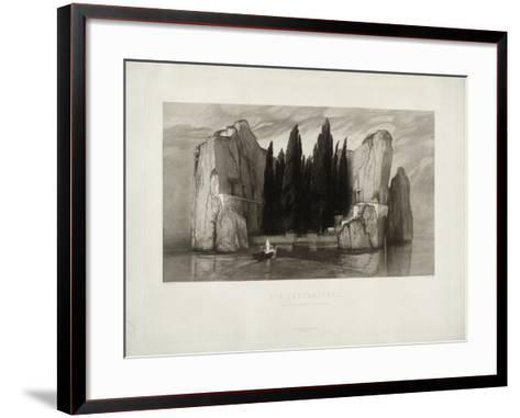 The Isle of the Dead, 1890-Max Klinger-Framed Art Print