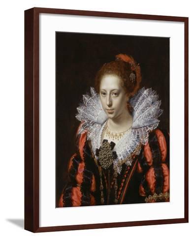 Portrait of a Young Lady, C.1620-Paulus Moreelse-Framed Art Print