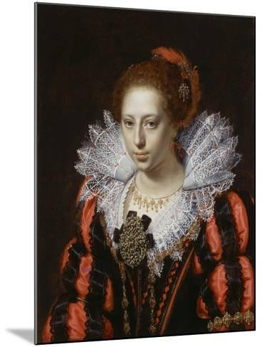 Portrait of a Young Lady, C.1620-Paulus Moreelse-Mounted Giclee Print