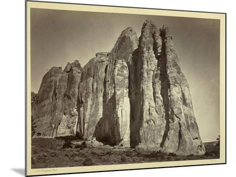 The South Side of Inscription Rock, 1873-Timothy O'Sullivan-Mounted Photographic Print