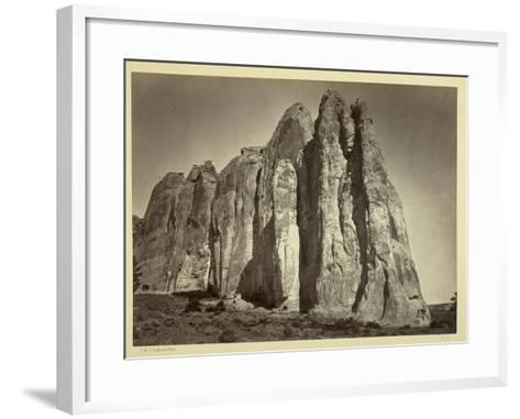 The South Side of Inscription Rock, 1873-Timothy O'Sullivan-Framed Art Print
