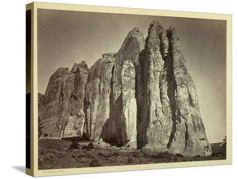 The South Side of Inscription Rock, 1873-Timothy O'Sullivan-Stretched Canvas Print
