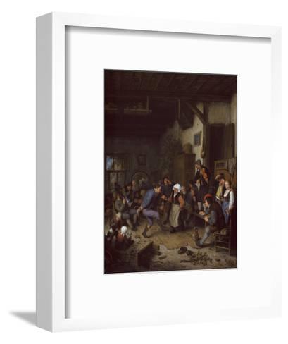 Merrymakers in an Inn, 1674-Adriaen Jansz^ Van Ostade-Framed Art Print
