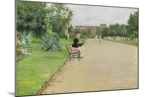 A City Park, C.1887-William Merritt Chase-Mounted Giclee Print