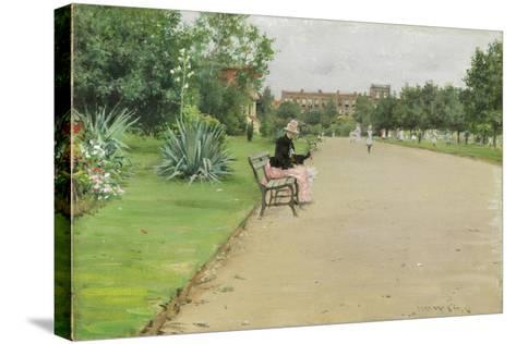 A City Park, C.1887-William Merritt Chase-Stretched Canvas Print