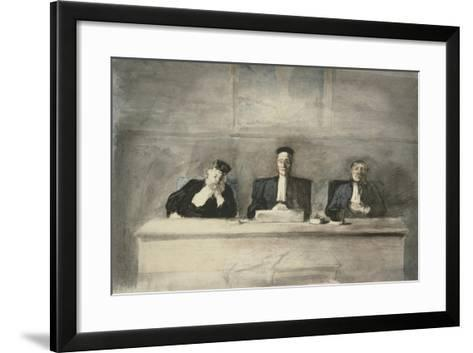 The Three Judges, 1858-60-Honore Daumier-Framed Art Print