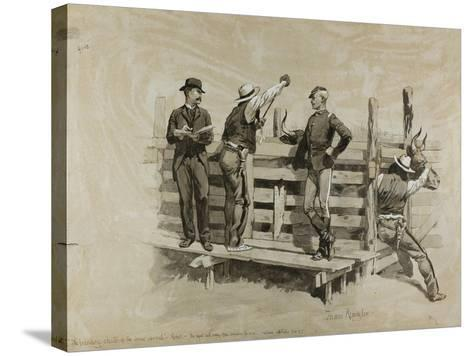 The Branding Chute-Frederic Remington-Stretched Canvas Print