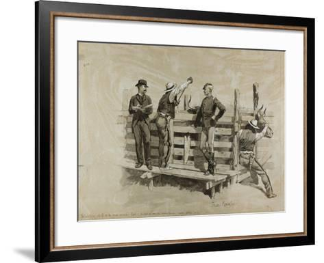 The Branding Chute-Frederic Remington-Framed Art Print
