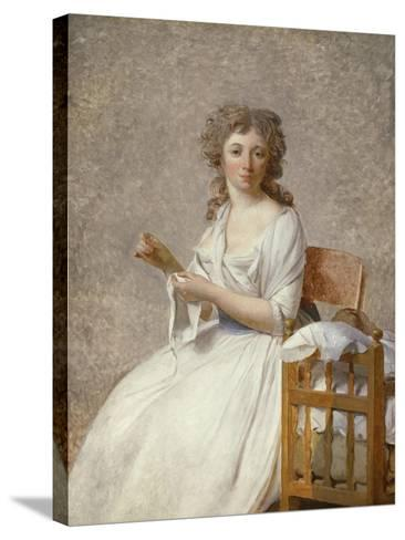 Madame De Pastoret and Her Son, 1791-92-Jacques Louis David-Stretched Canvas Print