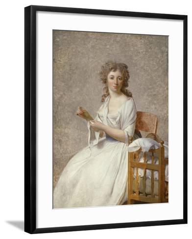 Madame De Pastoret and Her Son, 1791-92-Jacques Louis David-Framed Art Print