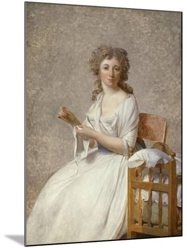 Madame De Pastoret and Her Son, 1791-92-Jacques Louis David-Mounted Giclee Print