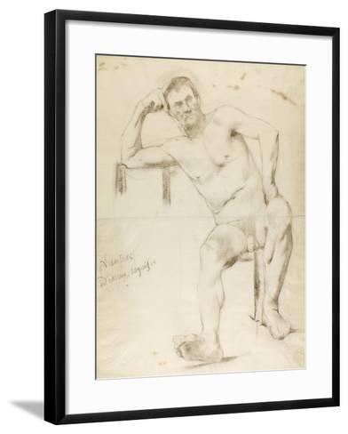 The Model Nizzavena, C. 1882-83-Henri de Toulouse-Lautrec-Framed Art Print