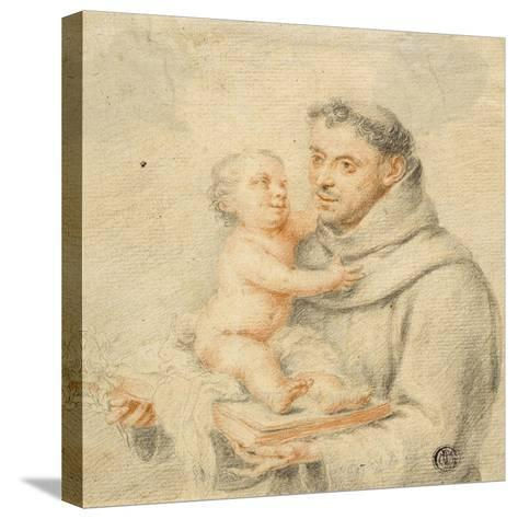 Saint Anthony of Padua (Chalk on Paper)--Stretched Canvas Print