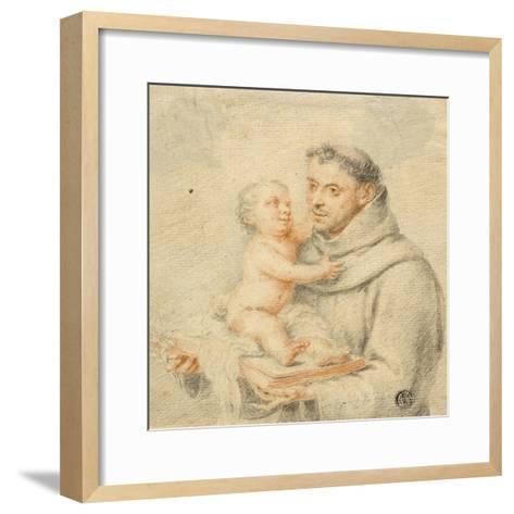 Saint Anthony of Padua (Chalk on Paper)--Framed Art Print