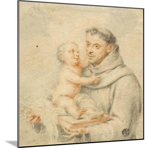 Saint Anthony of Padua (Chalk on Paper)--Mounted Giclee Print