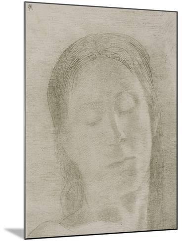 Closed Eyes, 1890-Odilon Redon-Mounted Giclee Print