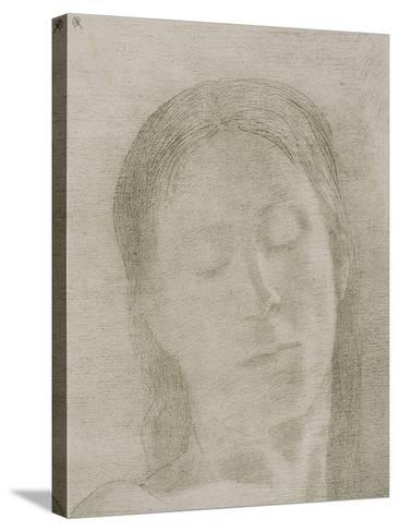 Closed Eyes, 1890-Odilon Redon-Stretched Canvas Print