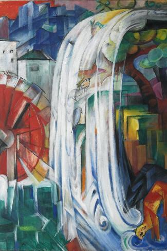 The Bewitched Mill, 1913-Franz Marc-Stretched Canvas Print
