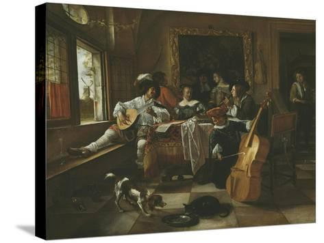 The Family Concert, 1666-Jan Havicksz Steen-Stretched Canvas Print