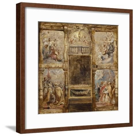 The Adoration of the Eucharist, C.1626-Peter Paul Rubens-Framed Art Print