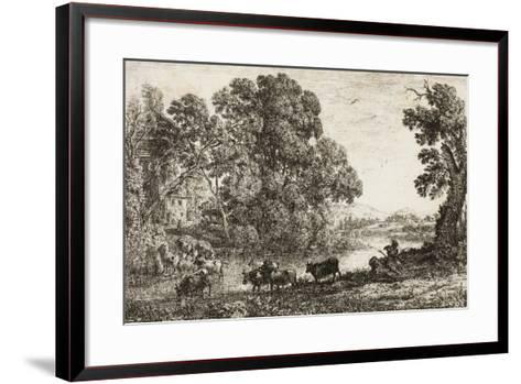 The Cowherd, 1636--Framed Art Print