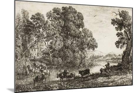 The Cowherd, 1636--Mounted Giclee Print