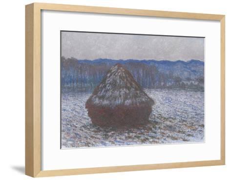 Stack of Wheat, 1890-91-Claude Monet-Framed Art Print