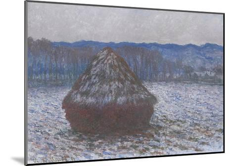 Stack of Wheat, 1890-91-Claude Monet-Mounted Giclee Print
