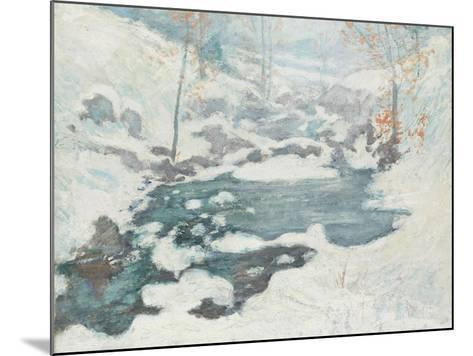 Icebound, C.1889-John Henry Twachtman-Mounted Giclee Print