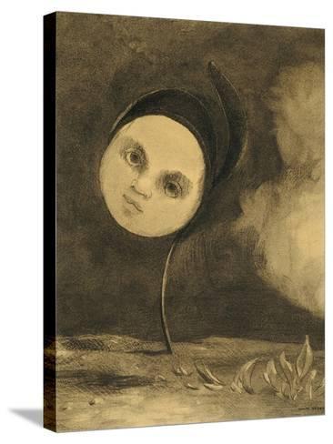 Strange Flower (Little Sister of the Poor), 1880-Odilon Redon-Stretched Canvas Print