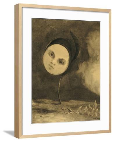 Strange Flower (Little Sister of the Poor), 1880-Odilon Redon-Framed Art Print