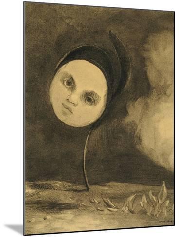 Strange Flower (Little Sister of the Poor), 1880-Odilon Redon-Mounted Giclee Print