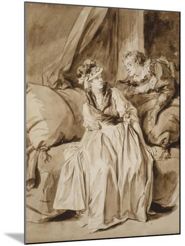 The Letter, or the Spanish Conversation, C. 1778-Jean-Honore Fragonard-Mounted Giclee Print