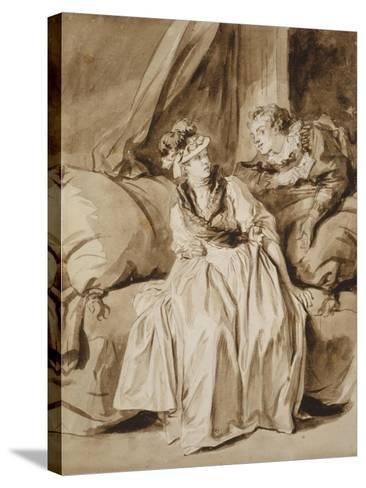 The Letter, or the Spanish Conversation, C. 1778-Jean-Honore Fragonard-Stretched Canvas Print