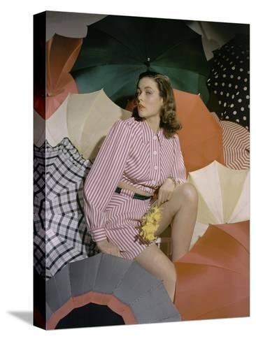 Vogue - May 1940-Horst P. Horst-Stretched Canvas Print