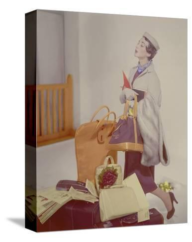 Vogue - May 1950-Horst P. Horst-Stretched Canvas Print