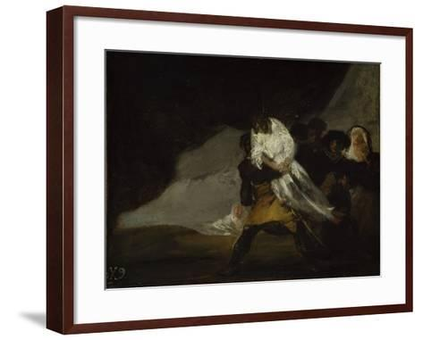 The Hanged Monk, C.1810-Francisco de Goya-Framed Art Print