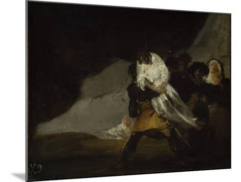 The Hanged Monk, C.1810-Francisco de Goya-Mounted Giclee Print