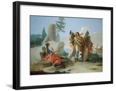 Armida Abandoned by Rinaldo, 1742-45-Giovanni Battista Tiepolo-Framed Art Print