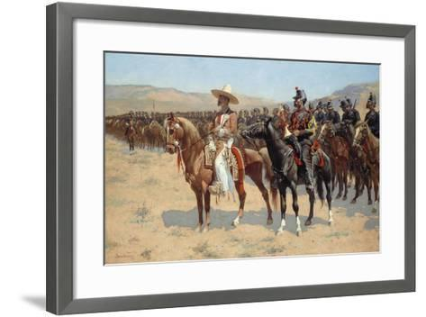 The Mexican Major, 1889-Frederic Remington-Framed Art Print