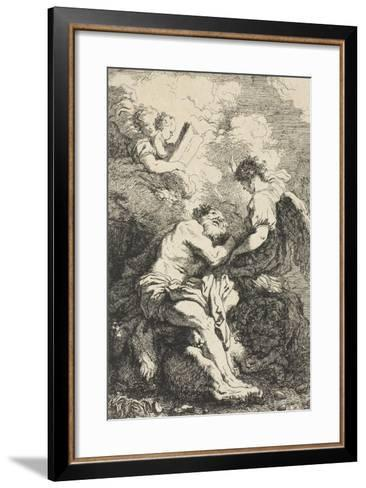 Saint Jerome, C.1761-65-Jean-Honore Fragonard-Framed Art Print